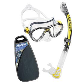 Cressi Professional Taucherbrille mit Schnorchel