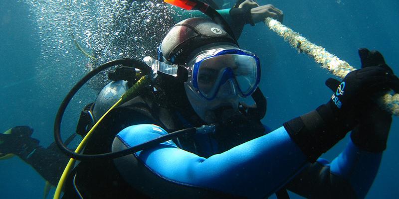 Schnorcheln Sie unter Wasser