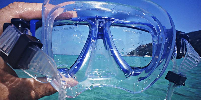 Schnorchelset aus Brille und Schnorchel